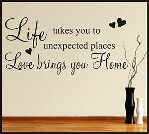 FAMILY LIFE LOVE HOME WALL ART STICKERS QUOTES WORDS ...