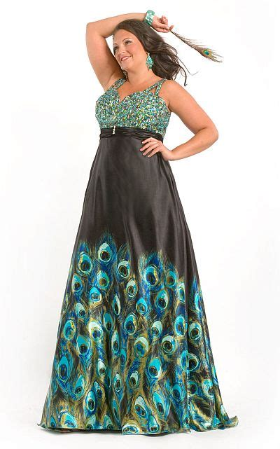 party time  size peacock print prom dress  french