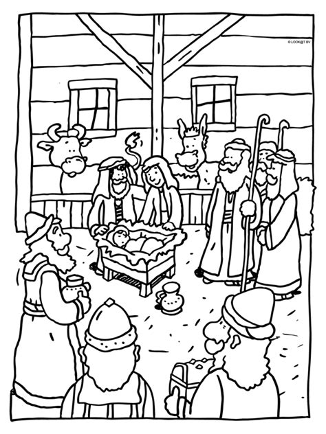 Kerst Kleurplaat Christelijk by Kleurplaten Kerst Christelijk