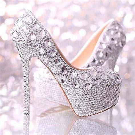 wedding shoes heels gorgeous sparkly handmade rhinestones platform bridal wedding shoes 2053151 weddbook