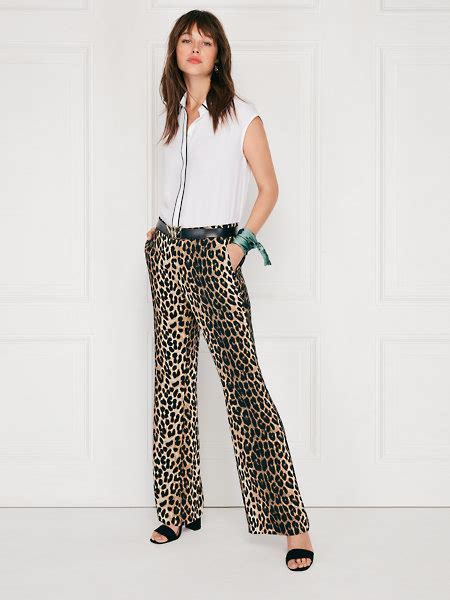 leopard flare pants costes fashion