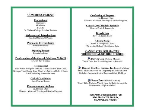 sample preschool graduation ceremony program 536   graduation ceremony program sample 181748