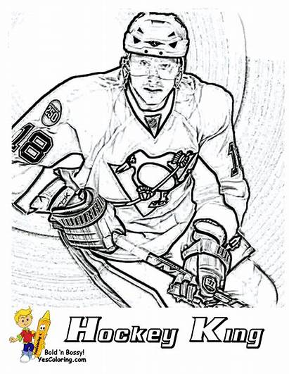 Hockey Coloring Pages Sheets Nhl Players Player