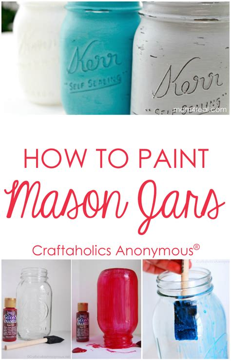 how to paint a l craftaholics anonymous how to paint mason jars tips and