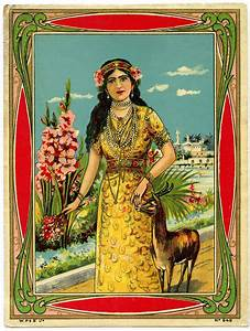 Antique Graphic - Exotic Beauty