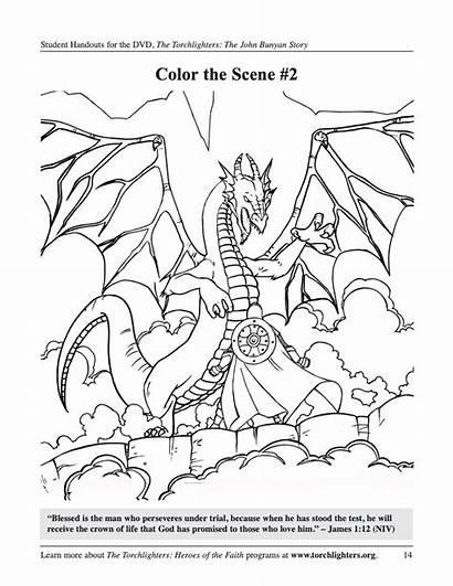 Coloring Pages Bunyan John Torchlighters Activities
