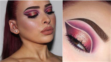double cut crease makeup tutorial youtube