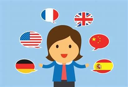 Multilingual Multilingue Meertalige Cartoon Vrouwen Mehrsprachig Clipart