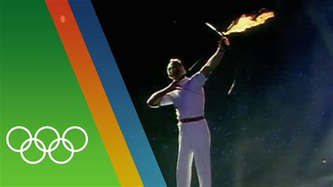 Barcelona 1992 Olympic Torch Lighting | Epic Olympic ...