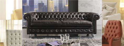 Made In Italy Chesterfield Sofas, Leather Couch