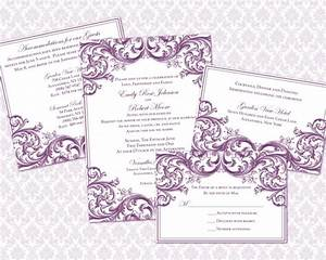 diy wedding invitation template set 5x7 by weddingsbyjaniev With free wedding invitation template 5x7