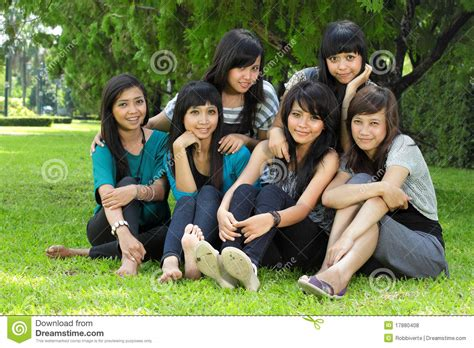 Six girl best friend stock photo. Image of happiness