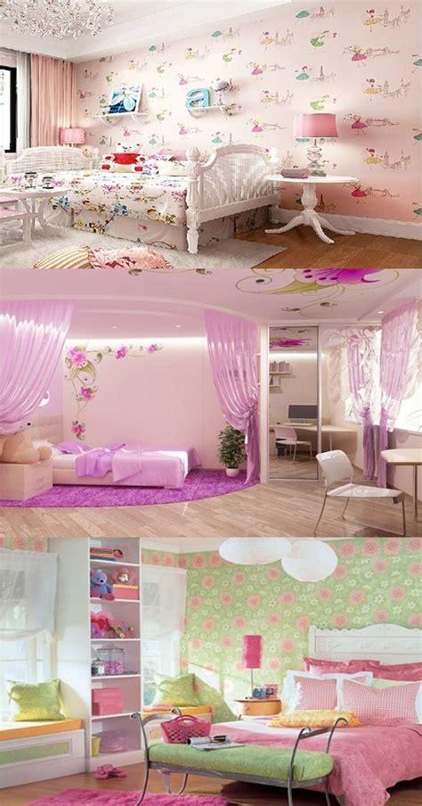 wallpaper border  teenage girls bedroom interior design