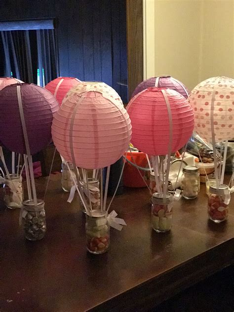 Hot Air Balloon Centerpieces Baby Shower In 2019