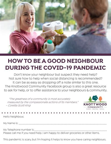 How to be a good neighbour during COVID-19. – Knottwood ...