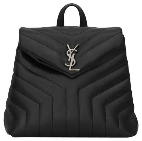saint laurent monogram loulou ysl small  matelasse black calfskin leather backpack tradesy