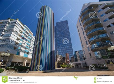Modern buildings ir Paris stock image. Image of metropolis ...