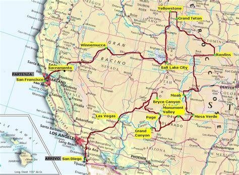 www.viaggifaidate.com - USA Cartina