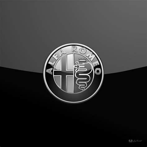 Alfa Romeo Badge Wallpaper by Alfa Romeo Silver 3d Badge On Black Digital By Serge