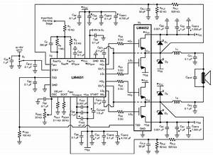 170 W Power Amplifier Schematic