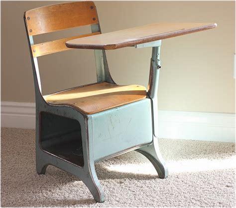 Old School Desk Chair Attached Hostgarcia