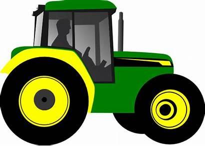 Clipart Tractors Tractor Deere John Cliparts Cartoon