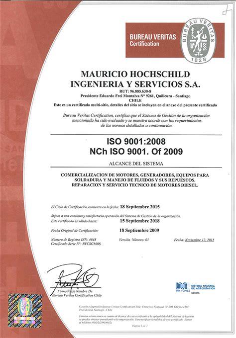 bureau veritas espa calidad certificada mauricio hochschild ingeniería y