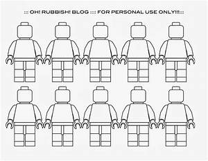 6 best images of lego minifigure printables lego With lego figure template