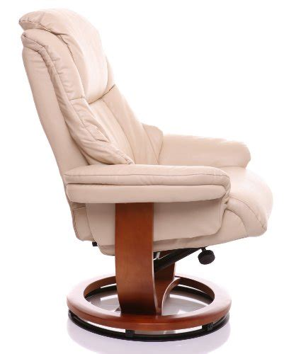 The steel frame is padded with plush polyurethane foam, upholstered with your choice of three bonded leather fabric colors, and fitted with five. The Emperor - Bonded Leather Recliner Swivel Chair ...