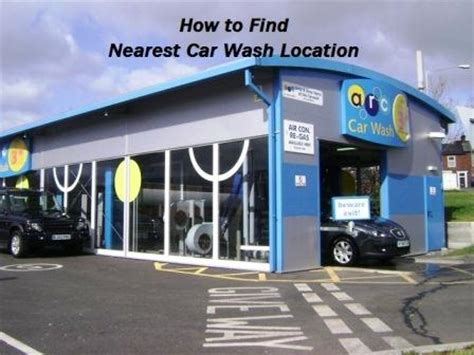 find nearest car wash location car detailing