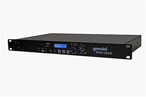 rack mount digital recorder gemini rmr 1000 professional usb sd digital player