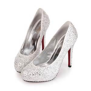 jeweled wedding shoes high heel closed toe rhinestone silver wedding bridal shoes 2012 flowerweddingshoes