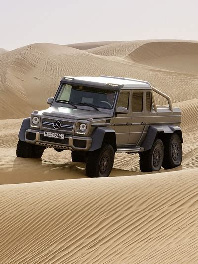 According to the top manager of the company. Pick up offroad, Mercedes Benz G63 AMG 6×6, six wheels ...