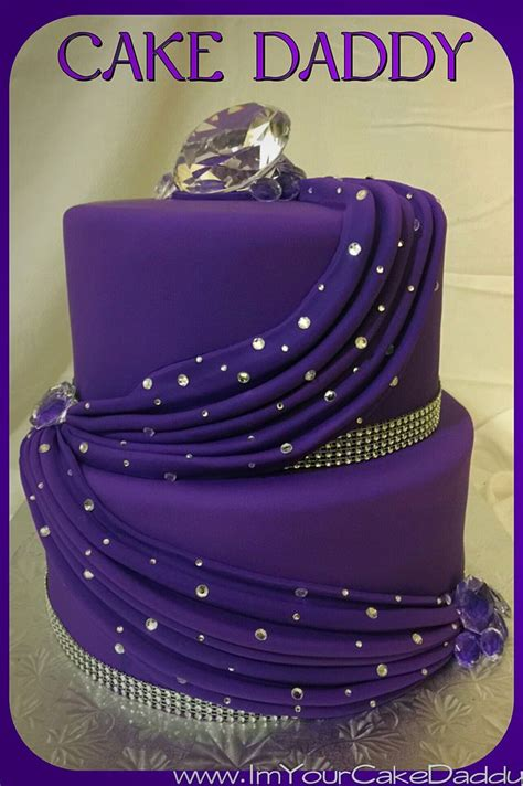 purple drape decor  diamonds  bling  tiered