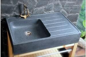 norway evier en pierre pour cuisine granit veritable With evier cuisine en pierre
