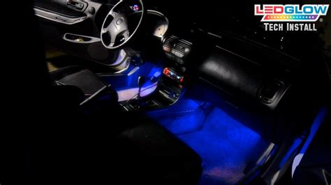 ledglows  piece led interior lighting kit installation