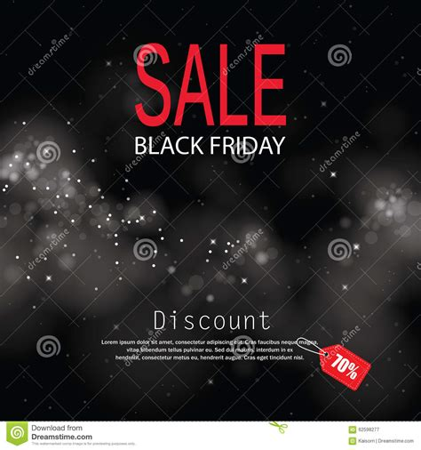 black friday sale lights bokeh background stock vector