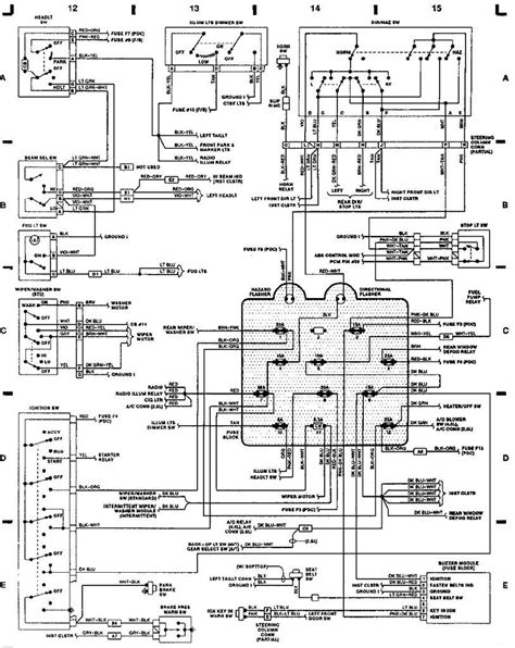 1998 Jeep Wiring Harnes Diagram by 1993 Jeep Wrangler Wiring Schematic Free Wiring Diagram