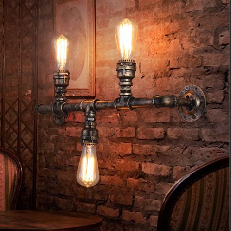 lada parete tubo di acqua lada da parete corridoio vintage loft