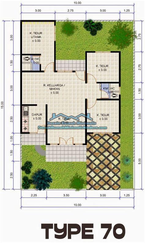 denah rumah minimalis type   lantai bisa jadi