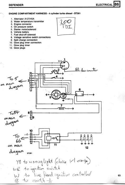 Glow Plug Relay Wiring Defender Forum Lrx The Land