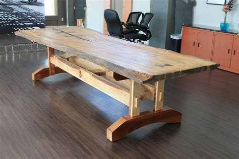 what is a live edge table hand crafted reclaimed live edge elm table by crafty