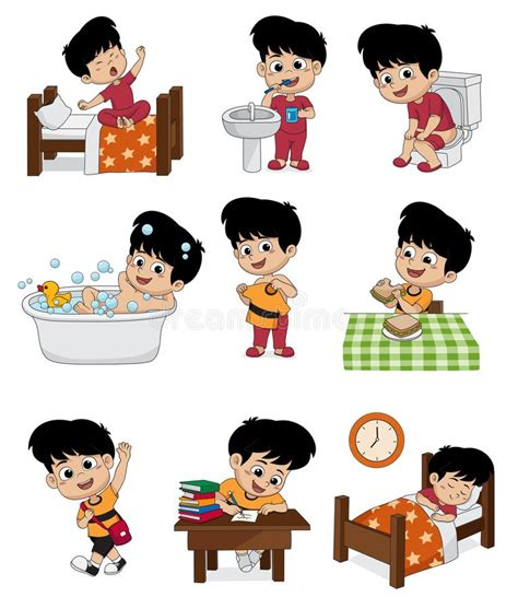 set  daily cute boyboy wake upbrushing teethkid pee