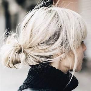 Chignon Cheveux Mi Long : coiffure cheveux mi long chignon coiffure simple et facile ~ Melissatoandfro.com Idées de Décoration