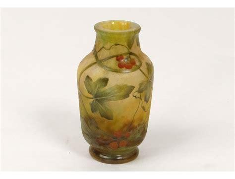 vase glass paste daum nancy nouveau leaves berries nineteenth century