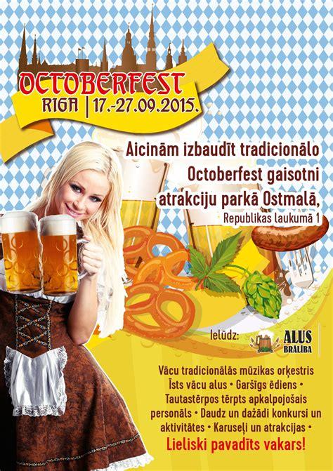 Octoberfest Rīga 2015 plakāts   Octoberfest, Playbill, Riga