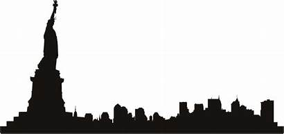 Skyline York Clipart Wall Chicago Clip Outline
