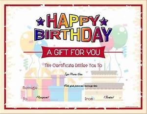 Free Christmas Gift Certificate Birthday Gift Certificates Gift Certificate Template
