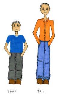 Tall and Short People Clip Art