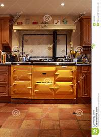 lovely master kitchen plan Yellow Range Oven In A Lovely Kitchen. Royalty Free Stock ...